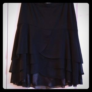 White House Black Market Flounced Short Skirt